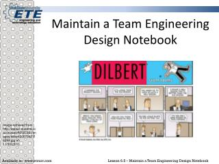 Maintain a Team Engineering Design Notebook