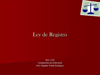Ley de Registro