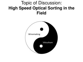 Topic of Discussion: High Speed Optical Sorting in the Field