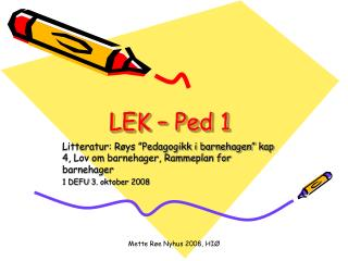 LEK – Ped 1