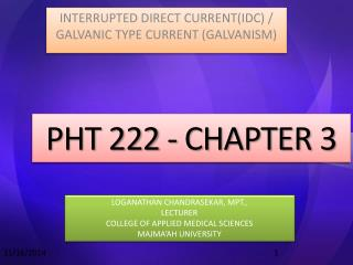 PHT 222 - CHAPTER 3