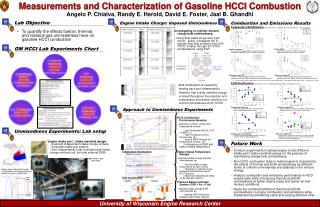 Measurements and Characterization of Gasoline HCCI Combustion