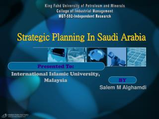 Strategic Planning In Saudi Arabia