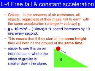 L-4 Free fall & constant acceleration