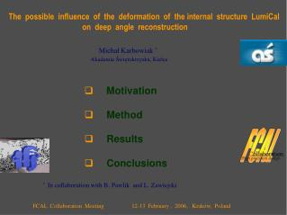 The  possible  influence  of  the  deformation  of  the internal  structure  LumiCal