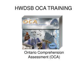 HWDSB OCA TRAINING