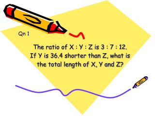 The ratio of X : Y : Z is 3 : 7 : 12. If Y is 36.4 shorter than Z, what is
