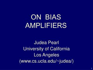 ON  BIAS   AMPLIFIERS