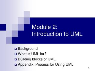 Module 2: Introduction to UML