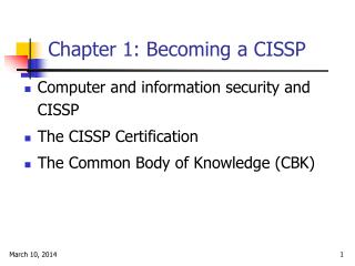 Chapter 1: Becoming a CISSP