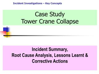 Case Study Tower Crane Collapse