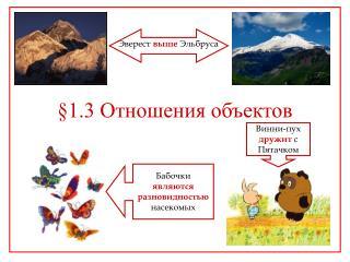§ 1.3 Отношения объектов
