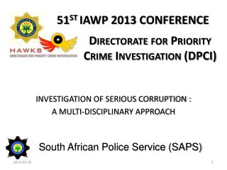 Directorate for Priority Crime Investigation (DPCI)
