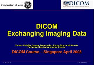 DICOM Exchanging Imaging Data Various Modality Images, Presentation States, Structured Reports