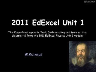 2011 EdExcel Unit 1
