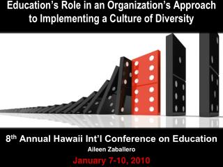 Education�s Role in an Organization�s Approach to Implementing a Culture of Diversity