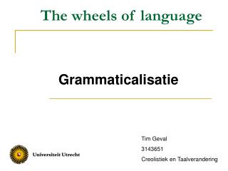 The wheels of language