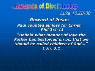 Luke 18:28-30