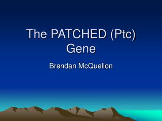 The PATCHED (Ptc) Gene