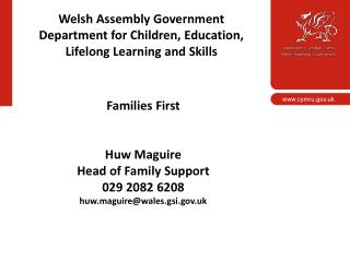 Welsh Assembly Government Department for Children, Education, Lifelong Learning and Skills