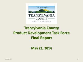 Transylvania County  Product Development Task Force Final Report