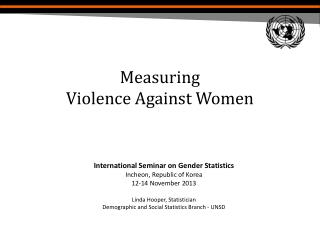 Measuring  Violence Against Women
