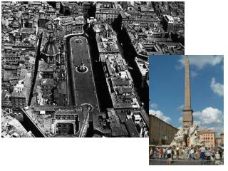 Piazza Navona pride of Baroque Roman art history—carved out space