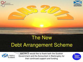 The New Debt Arrangement Scheme