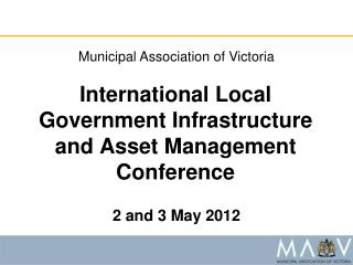 International Local Government Infrastructure and Asset Management Conference