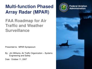 Multi-function Phased Array Radar (MPAR)