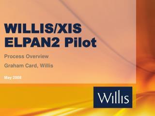 WILLIS/XIS ELPAN2 Pilot