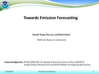 Towards Emission Forecasting