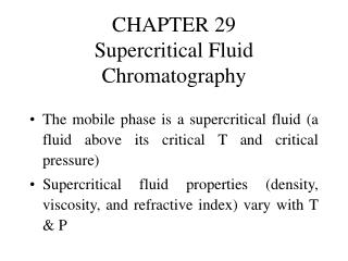 CHAPTER 29 Supercritical Fluid Chromatography