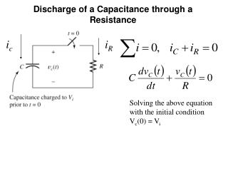 Discharge of a Capacitance through a Resistance
