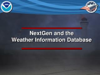 NextGen and the  Weather Information Database