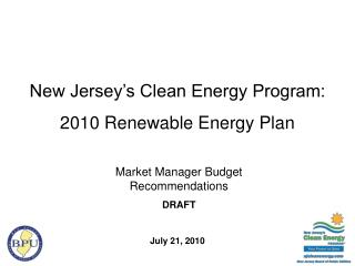 New Jersey's Clean Energy Program:  2010 Renewable Energy Plan