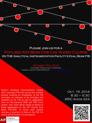 October  15th , 2014 For more details and to register