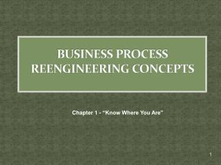 BUSINESS PROCESS REENGINEERING CONCEPTS