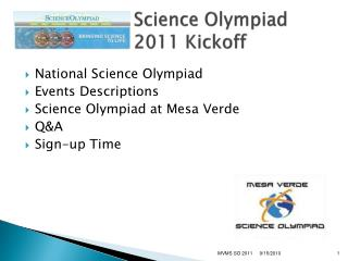 Science Olympiad 2011 Kickoff