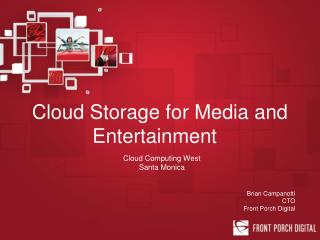 Cloud Storage for Media and Entertainment