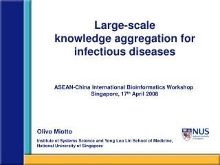 Large-scale  knowledge aggregation for infectious diseases