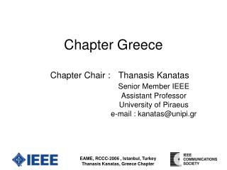 Chapter Greece