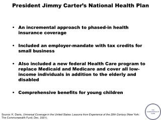 President Jimmy Carter's National Health Plan