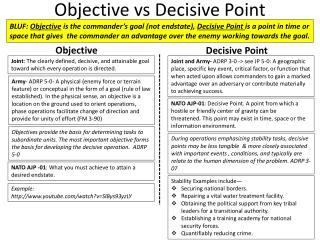 Objective  vs  Decisive Point
