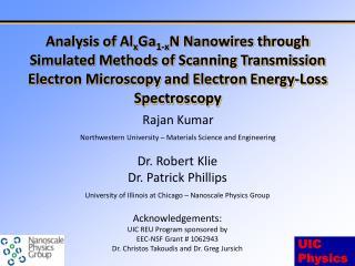 Rajan  Kumar Northwestern University – Materials Science and Engineering