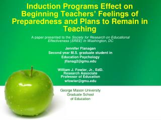 Induction Programs Effect on Beginning Teachers  Feelings of Preparedness and Plans to Remain in Teaching