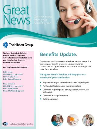 Benefits Update.