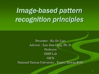Image-based pattern recognition principles
