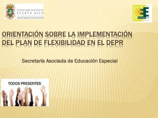 Orientación sobre  la  impLEMENTACI ÓN  DEL Plan de  Flexibilidad  en el DEPR