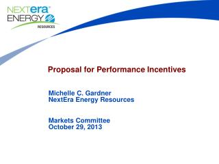 Proposal for Performance Incentives
